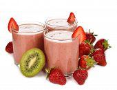 Smoothies Of Kiwi And Strawberry