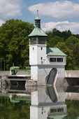 Dam On The Lake In Augsburg