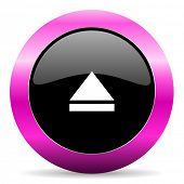 eject pink glossy icon