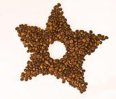 Coffee beans star