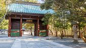 Main Gate of Kotoku-in Temple Where Daibutsu (the Great Buddha) of Kamakura Situated