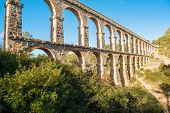 stock photo of ravines  - Aqueducts from the Roman area  - JPG