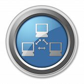 picture of vpn  - Image Graphic Icon Button Pictogram with Network symbol - JPG