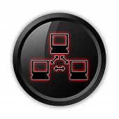 image of vpn  - Image Graphic Icon Button Pictogram with Network symbol - JPG