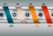 Turns ribbons infographics