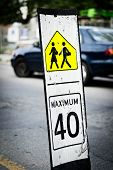 Speed Limit Sign Near School passage