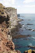 Steep Coast In Iceland
