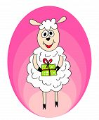 Crazy Sheep With Present