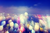 City Scape Colorful Lights Concept