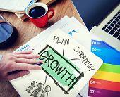 Businessman Growth Ideas Strategy Teamwork Concept
