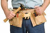 Repairman's Toolbelt With Hammer
