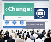 Business People Change Seminar Concept