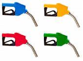 Gasoline Fuel Nozzles In Four Colors