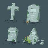 Halloween tombs set.