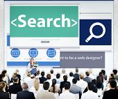 Business People Research Web Design Concept