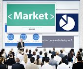 Business People Market Presentation Concept