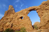 Rock formations in Arches National Park, Utah, United States