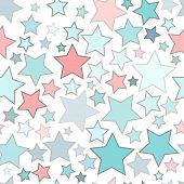 Abstract seamless background with colorful stars