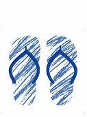 Grunge Flip Flops