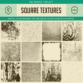 set of 12 detailed vector textures - from subtle halftones to heavily distressed wood and wall textures