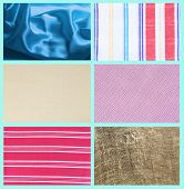 Different fabric collage