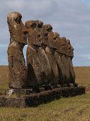 Tight Row Of Moai