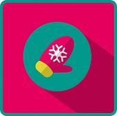glove winter flat icon vector illustration eps10