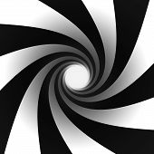 Black And White Spiral Light At End Of Tunnel
