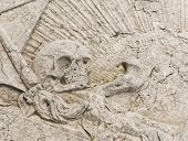 Skull On Gravestone