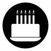 Cake Symbol Button
