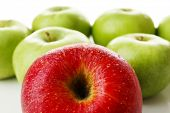 Juicy apples close-up