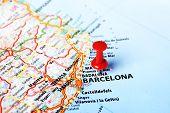 Barcelona ,spain Map