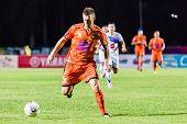 Sisaket Thailand-october 22: Brent Mcgrath Of Sisaket Fc. In Action During Thai Premier League Betwe