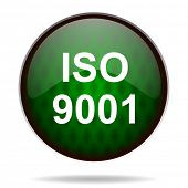 iso 9001 green internet icon