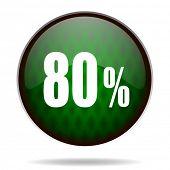80 percent green internet icon