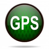 gps green internet icon