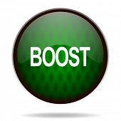 boost green internet icon