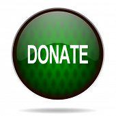 donate green internet icon