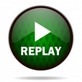 replay green internet icon