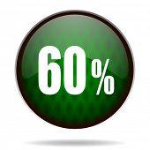 60 percent green internet icon