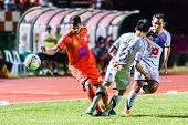 Sisaket Thailand-october 22: Victor Amaro Of Sisaket Fc. In Action During Thai Premier League Betwee