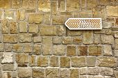 Wall Street  Arrow On Old Stone Wall