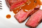 image of ou  - beef filet mignon with green peppercorn creamy sauce ou poivre vert - JPG