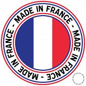 Made In France Circular Decal