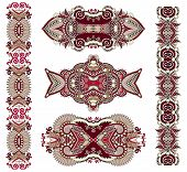 picture of adornment  - ornamental decorative ethnic floral adornment - JPG
