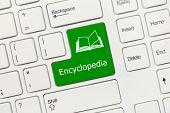 White Conceptual Keyboard - Encyclopedia (green Key)