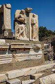 Statues Near The Baths Of Scholastica