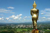 Buddha Standing Golden