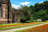 Cathedral gardens, Chester.