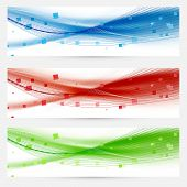 Set Of Swoosh Speed Wave Abstract Web Headers